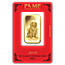 PAMP Lunar Series 2018 Gold Bar - Year of the Dog - 1 oz thumbnail