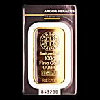 Argor-Heraeus Gold Bar - 100 g thumbnail
