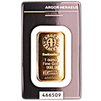 Argor-Heraeus Gold Bar - 1 oz  thumbnail