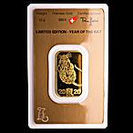 Argor-Heraeus Gold Lunar Series Bar 2020 - Year of the Rat - 10 g thumbnail