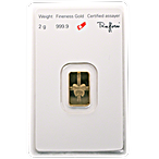 Argor-Heraeus Gold Bar - Gift Themed - 2 g thumbnail