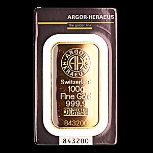 Argor-Heraeus Gold Bar - 100 g