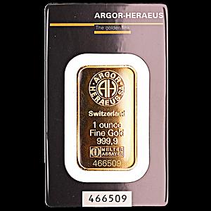 Argor-Heraeus Gold Bar - 1 oz