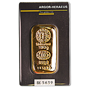 Argor-Heraeus Gold Cast Bar - 100 g