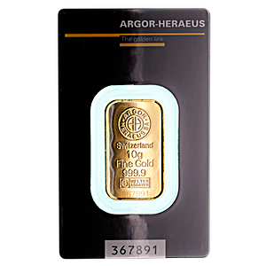 Argor-Heraeus Gold Bar - 10 g