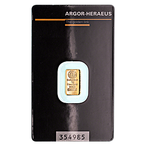 Argor-Heraeus Gold Bar - 1 g