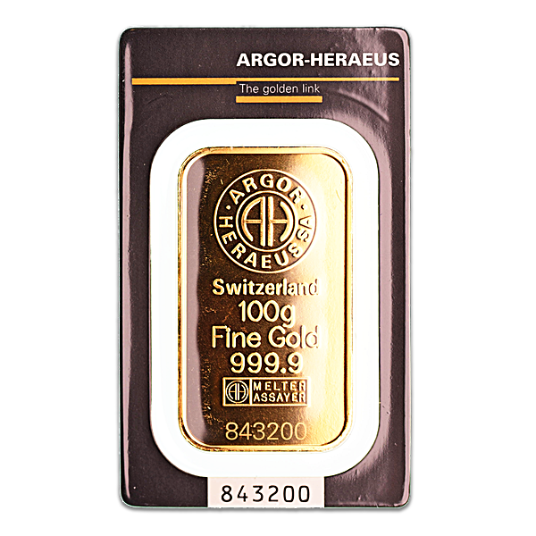 Argor-Heraeus Gold Bar - 100 g