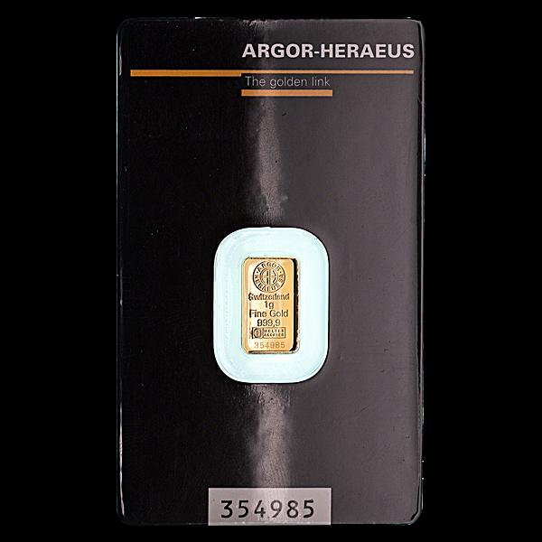 Argor-Heraeus Gold Bar - 1 g