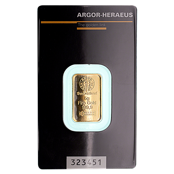 Argor-Heraeus Gold Bar - 5 g