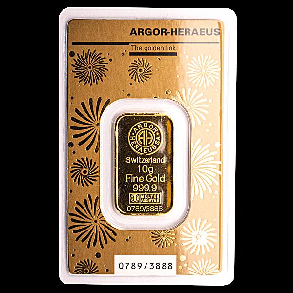 Argor-Heraeus Gold Lunar Series Bar 2020 - Year of the Rat - 10 g