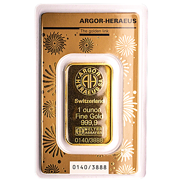 Argor-Heraeus Gold Lunar Series Bar 2020 - Year of the Rat - 1 oz