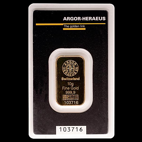 Argor-Heraeus Gold KineBar - 10 g