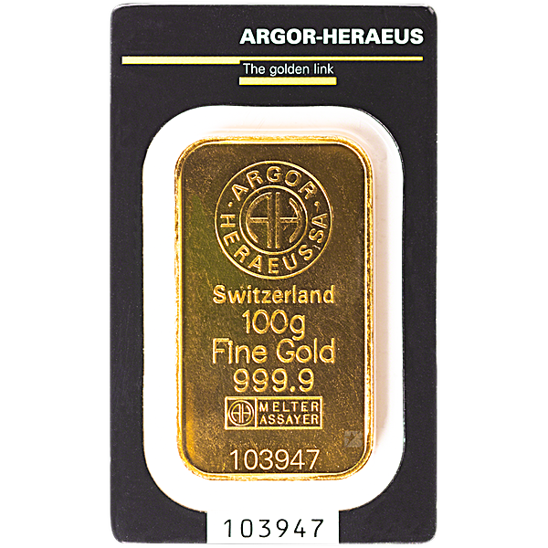 Argor-Heraeus Gold KineBar - 100 g