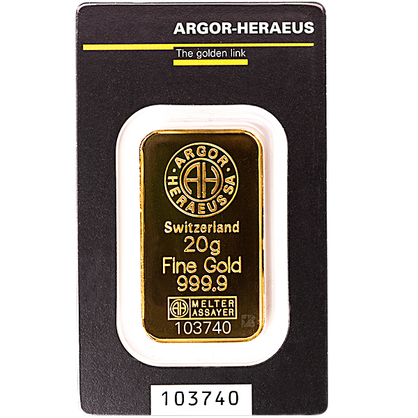 Argor-Heraeus Gold Bar - 20 g