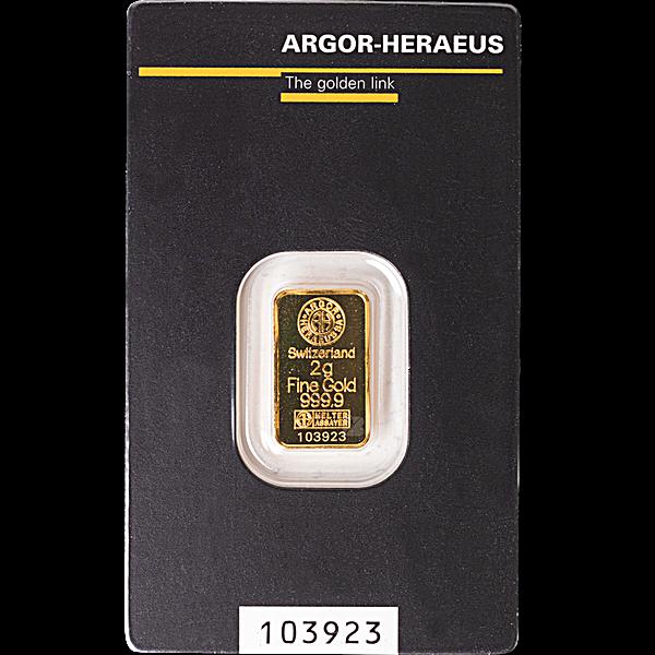 Argor-Heraeus Gold KineBar - 2 g