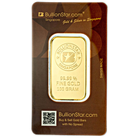 BullionStar Gold Bars with No Spread - 100 g
