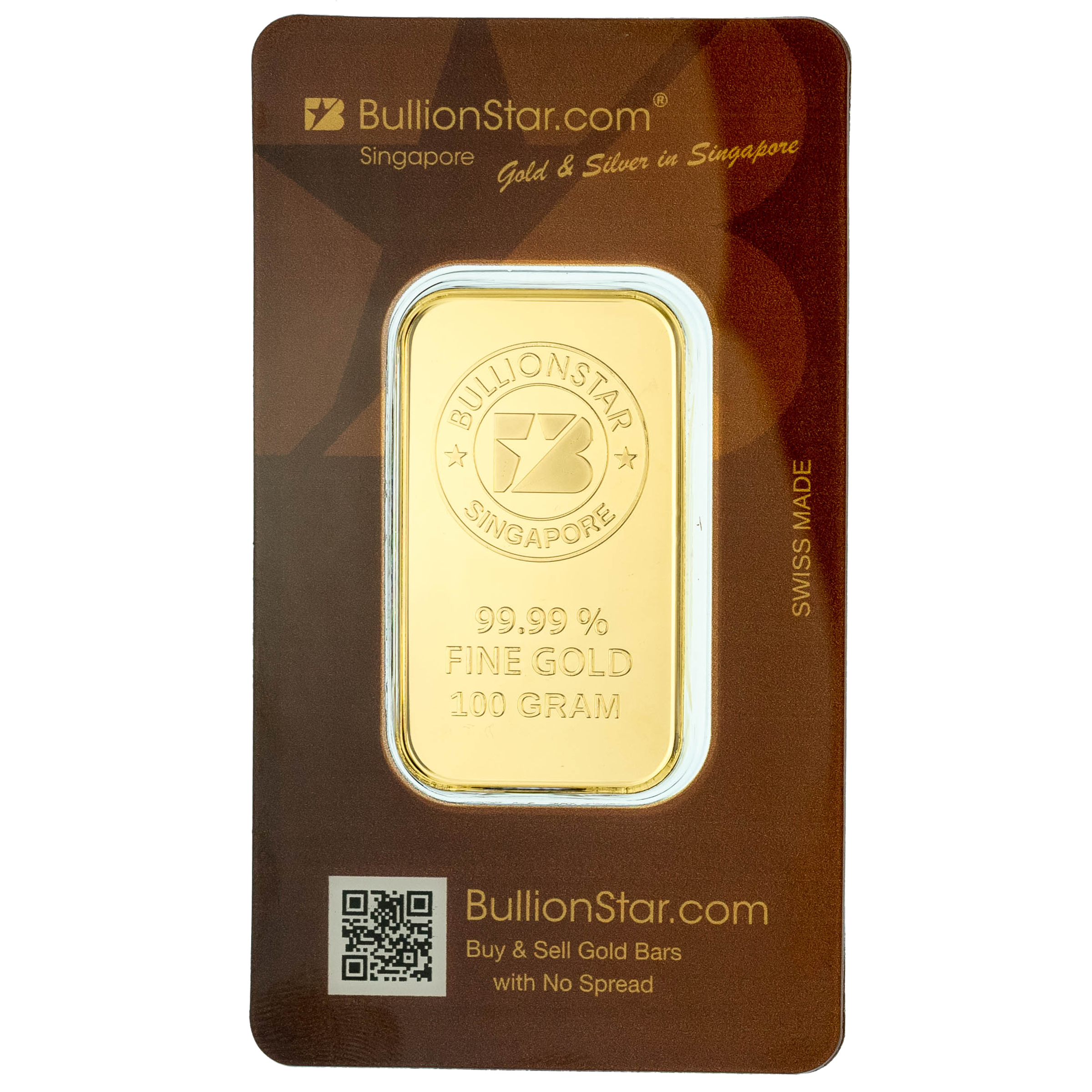Bullionstar Mint Gold Bars With No Spread 100 G