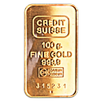 Credit Suisse Gold Bar - Circulated in good condition - 100 g thumbnail