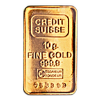 Credit Suisse Gold Bar - Circulated in good condition - 10 g thumbnail