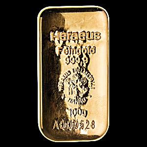 Heraeus Gold Cast Bar - 100 g