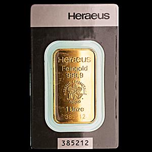 Heraeus Gold Bar - 1 oz