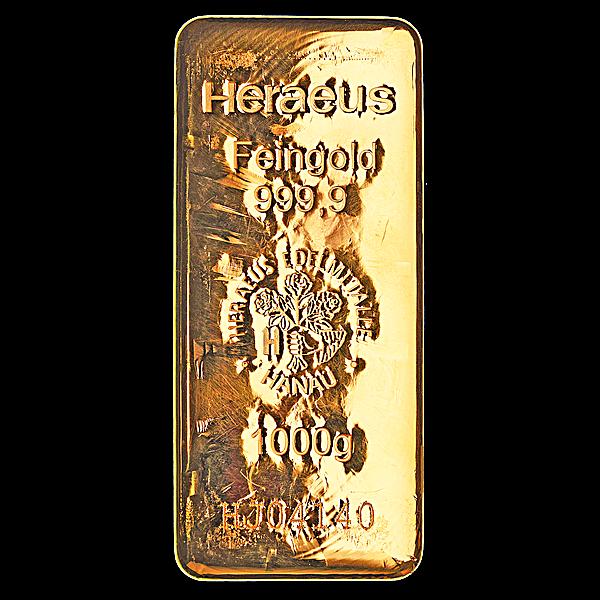 Heraeus Gold Bar - 1 kg