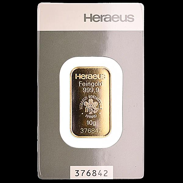 Heraeus Gold Bar - 10 g