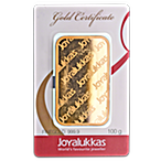 Joyalukkas Gold Bar - Circulated in good condition - 100 g thumbnail