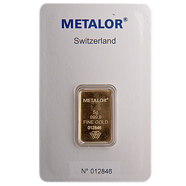 Metalor Gold Bar - Circulated in good condition - 5 g