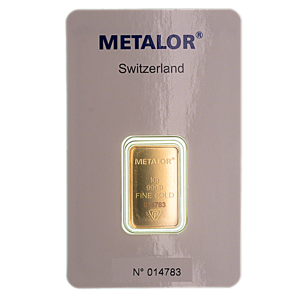 Gold Bar - Various Brands - LBMA - 10 g