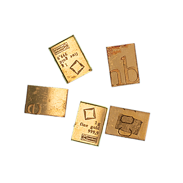 Gold Bar - Various Brands - LBMA - 1 g