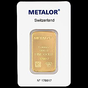 Metalor Gold Bar - 1 oz