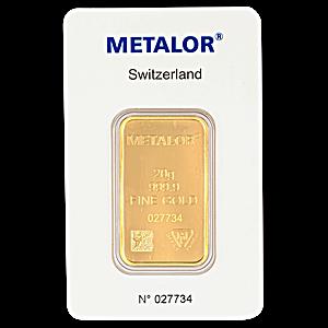 Metalor Gold Bar - 20 g