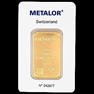 Metalor Gold Bar - 50 g
