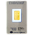 PAMP Gold Bar - Circulated in good condition - 5 g thumbnail