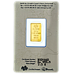 PAMP Gold Bar - Circulated in good condition - 2.5 g thumbnail