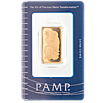 PAMP Gold Bar - Circulated in good condition - 1/2 oz thumbnail