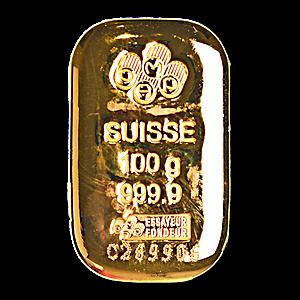 PAMP Gold Cast Bar - 100 g