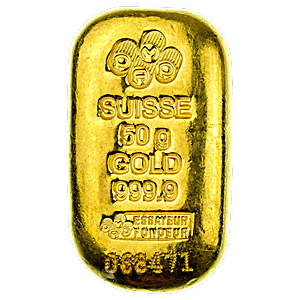 PAMP Gold Cast Bar - 50 g