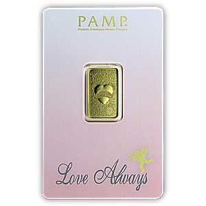 PAMP Love Always Gold Bar - Circulated in good condition - 5 g