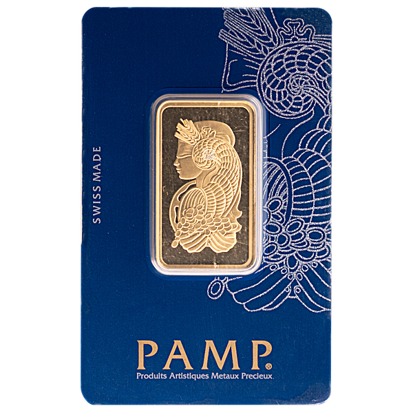 PAMP Gold Bar - Circulated in Good Condition - 2 Tolas