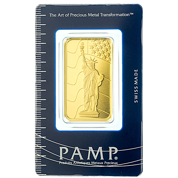 PAMP Gold Bar - Circulated in good condition - 1 oz