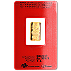 PAMP Lunar Series 2012 Gold Bar - Year of the Dragon - 5 g thumbnail