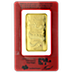 PAMP Lunar Series 2012 Gold Bar - Year of the Dragon - 100 g thumbnail