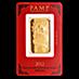 PAMP Lunar Series 2012 Gold Bar - Year of the Dragon - 1 oz thumbnail