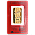 PAMP Lunar Series 2013 Gold Bar - Year of the Snake - Circulated in good condition - 1 oz thumbnail