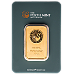 Perth Mint Gold Bar - Green - 10 oz thumbnail