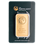 Perth Mint Gold Bar - Green - 100 g thumbnail