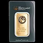 Perth Mint Gold Bar - Green - 50 g thumbnail