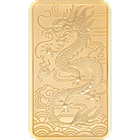 Perth Mint Rectangle Gold Dragon - 1 oz